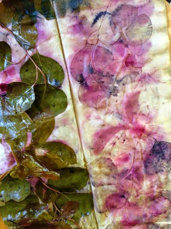 Prunus & eucalyptus leaves | notjustnat creative blog: Minication and Creative Weekend Away