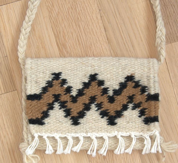 Hand made woolen small purse - authentic... - Rustic Home Decor