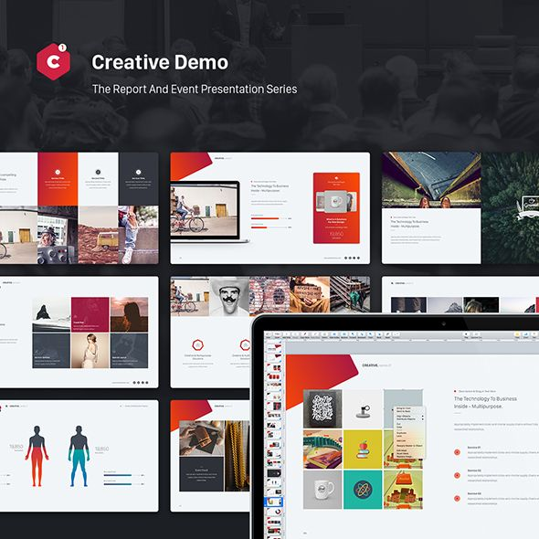 Creative Powerpoint Theme (Event & Report Theme Series)