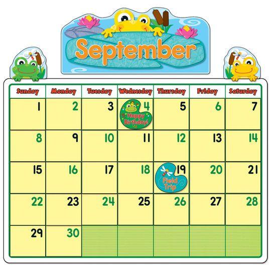 Funkky Frogs Calendar Bulletin Board Set