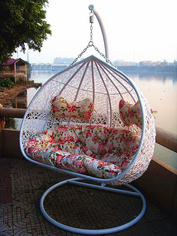 New style rattan chair rattan bird nest outdoor swing hanging basket hanging chair indoor rocking chair swing chair cushion $137.24