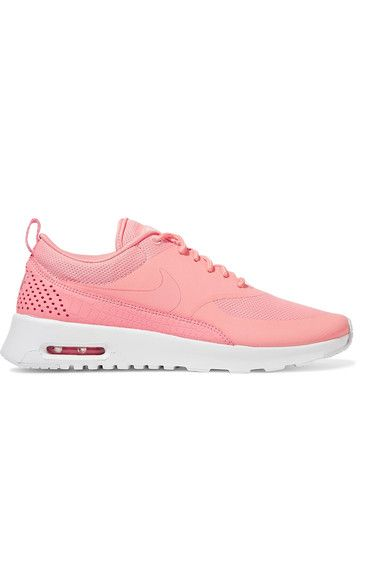 Nike | Air Max Thea croc-effect leather-trimmed coated mesh sneakers | NET-A-PORTER.COM