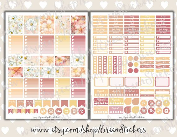 Floral printable stickers Erin Condren Printable by EireenStickers