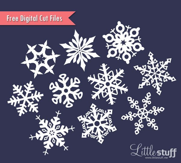 Free Snowflake Digital Cut Files