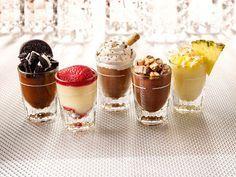 5 mini postres de diferentes sabores