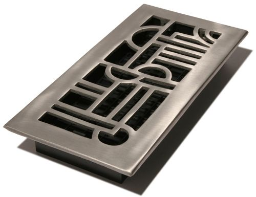 4x10 Brushed Aluminum Art Deco Vent Cover
