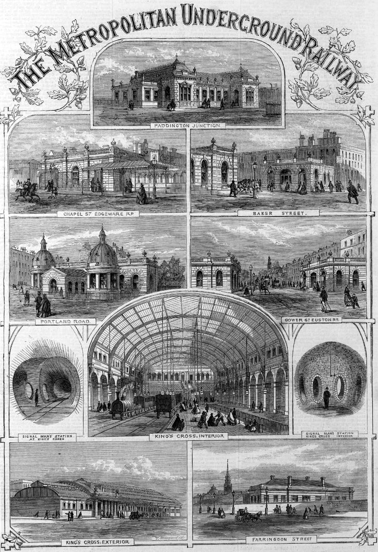 London Underground Stations 1862