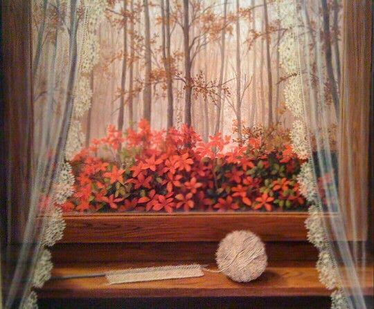 Curtains Ideas curtain paintings : 17 Best images about gunseli kapucu paintings...windows#doors ...