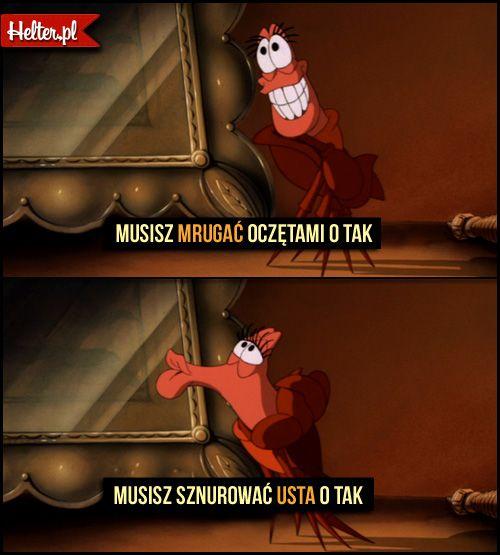 Mała Syrenka Disney Malasyrenka Sebastian Disney Cytaty Film