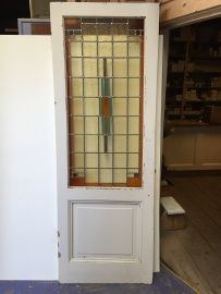 nr. gl111 antieke glas in lood deur