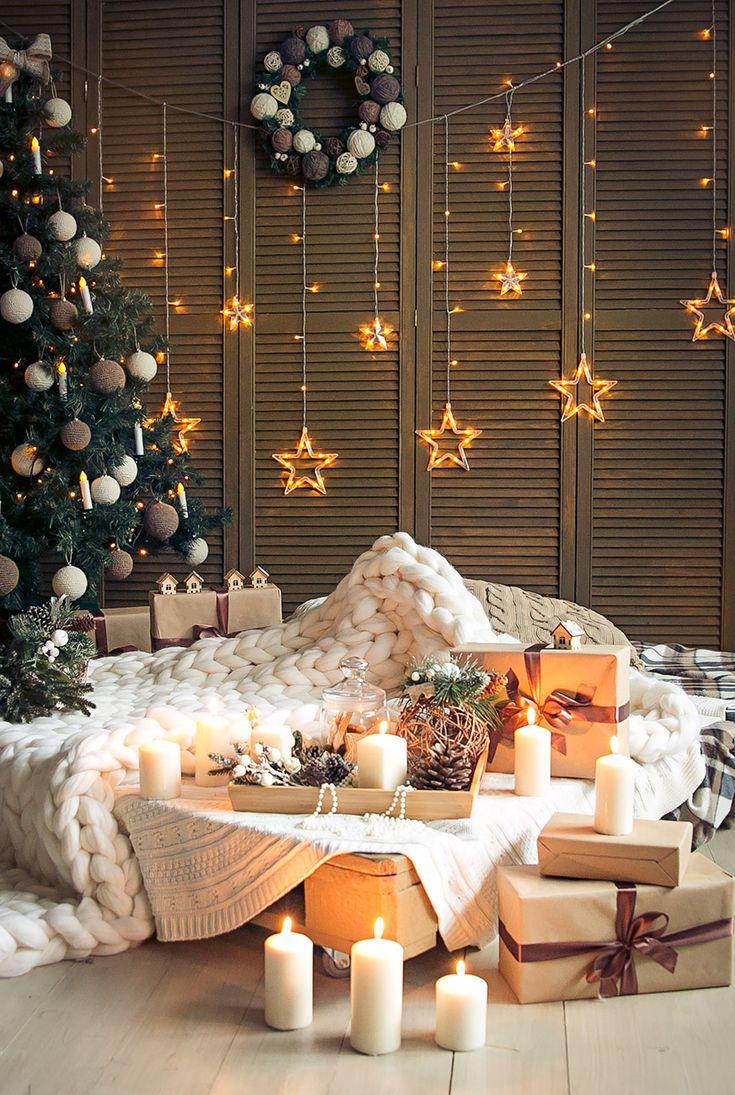 superb einfache dekoration und mobel weihnachtliche wohnideen #5: Schöne Lichtekette und Tannenbaum für frohe Weihnachten. #Weihnachten # Dekoration #Weihnachtsdeko #Christmas
