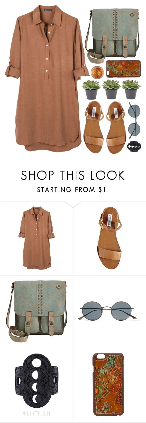 """Dreshirt"" by time-new-roman ❤ liked on Polyvore featuring United by Blue, Steve Madden, Patricia Nash, Oliver Peoples and Blazin Roxx"