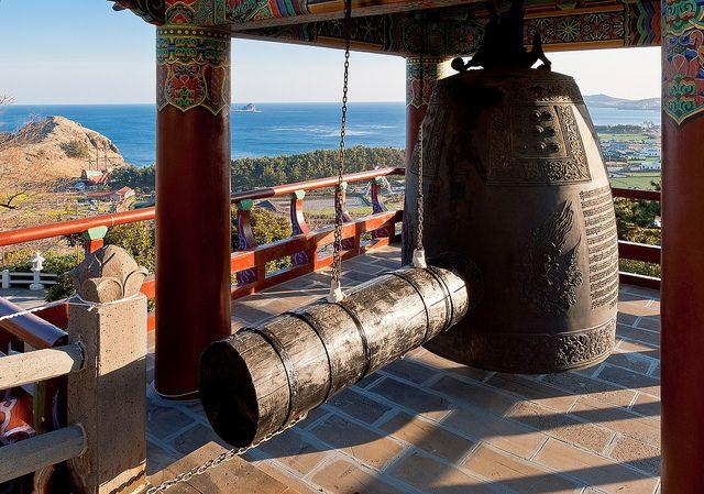 | Monastery ring bell at Sanbanggulsa buddhist temple at Sanbangsan of ...
