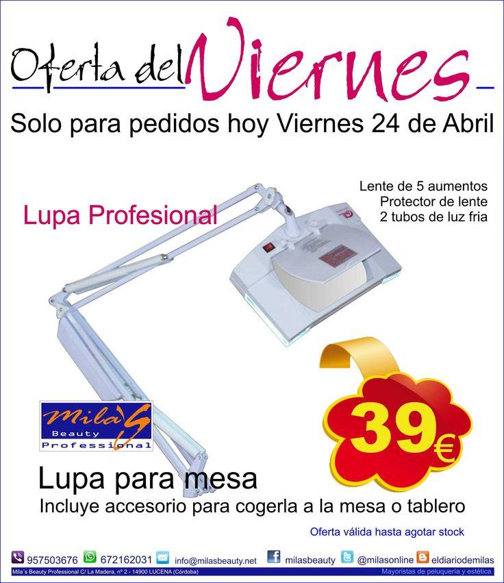 Solo hoy Viernes 24 consigue tu #lupa de #estetica de sobre mesa a un precio muy especial !!!!!