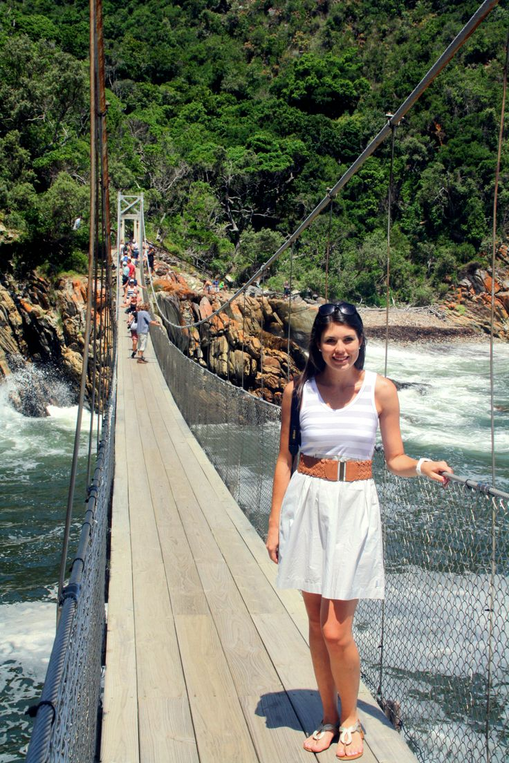 Stormsriver Mouth - Hanging bridge over the river in South Africa, close to Tsitsikamma
