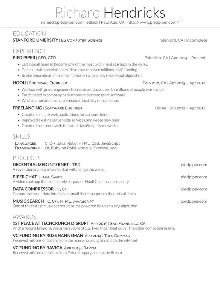 LaTeX Resume Generator