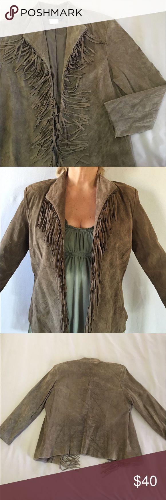 Fringe Suede jacket Very cool Genuine suede leather jacket. Fully lined. Thanks ‼️💤‼️🍾 City Girl Nancy Bolen Jackets & Coats