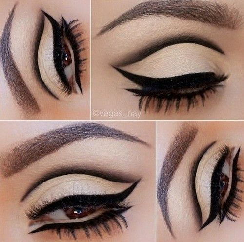 I'm going to attempt to play around with eyeliner more. This is so simple, but so cool!
