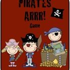 Pirates Arrr! Game - This game is a great addition to any Pirate theme.  The game cards are BLANK!  They can be customized to fit ANY skill: sight ...