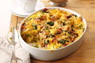 Do-Ahead Egg Bake Recipe - This breakfast bake is prepared the night before, just in case you were thinking of treating the family to a special Valentine breakfast. (that you didn't have to wake up early to prepare!)