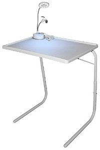 Amazon.com - Personal Folding Table & Desk Lamp with Led Lights Small Fan Bundle, Portable Multipurpose Utility Laptop Stand, Perfect Gift for Him, Her & Kids. Increase Your Convenience Now ! -