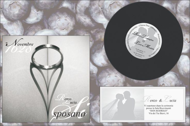 Partecipazione di Matrimonio disco wedding