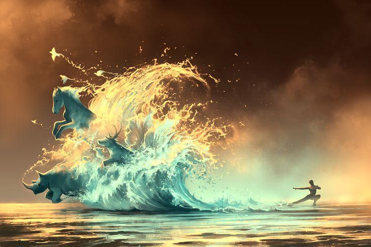 30 digital paintings colorés et chargés d'émotion d'Aquasixio