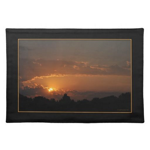 Sunset Golden Rays Cloth Placemat