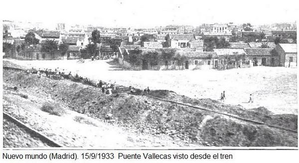 Puente de Vallecas desde las vías de tren en 1933 vía @Ardcaom