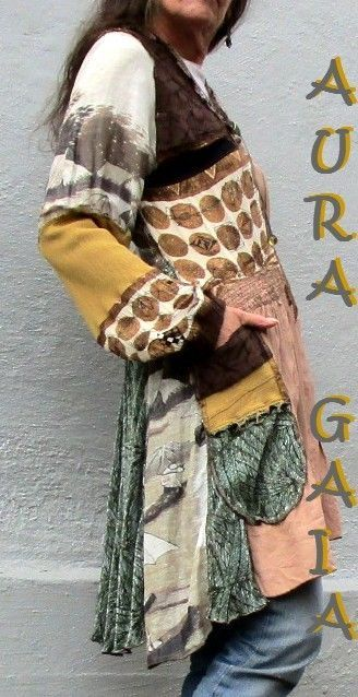 AuraGaia Persephone 420 SALE! SALE!!! 42% OFF!!! xoox Poorgirl Upcycled OverBlouse Tunic Jacket S-M SALE! 40% OFF