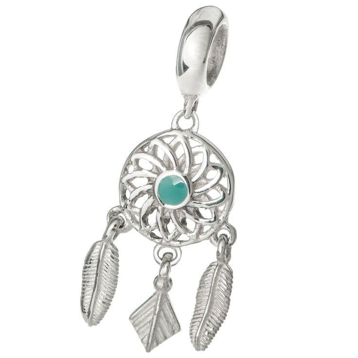 Sterling Silver Enamel Dream Catcher Flower Feather European Style Dangle Bead Charm: Amazon.co.uk: Jewellery