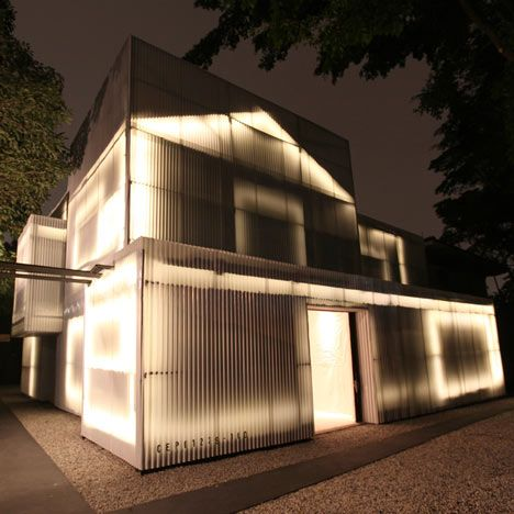 Brazilian studio 20.87has used plastic panels and LED lighting to transform an old house inSão Paulo