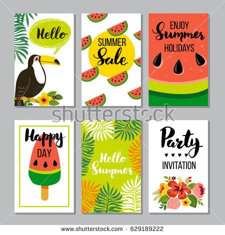Summer card set, elements with quotes, calligraphy, flowers, wreath. Perfect for greeting cards, sale badges, scrapbook, poster, cover, tag, invitation. Hand drawn style, vector illustration.