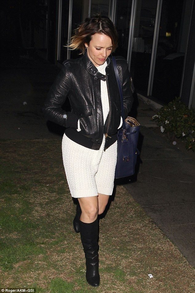 Brr! Rachel McAdams huddled in close as she stepped out for a dinner date in Los Angeles o...