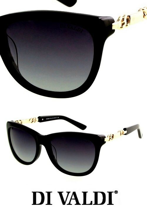 DiValdi sunglasses for women. Retro cat eye style with gold accents, for only $120 on StayAmazing.com