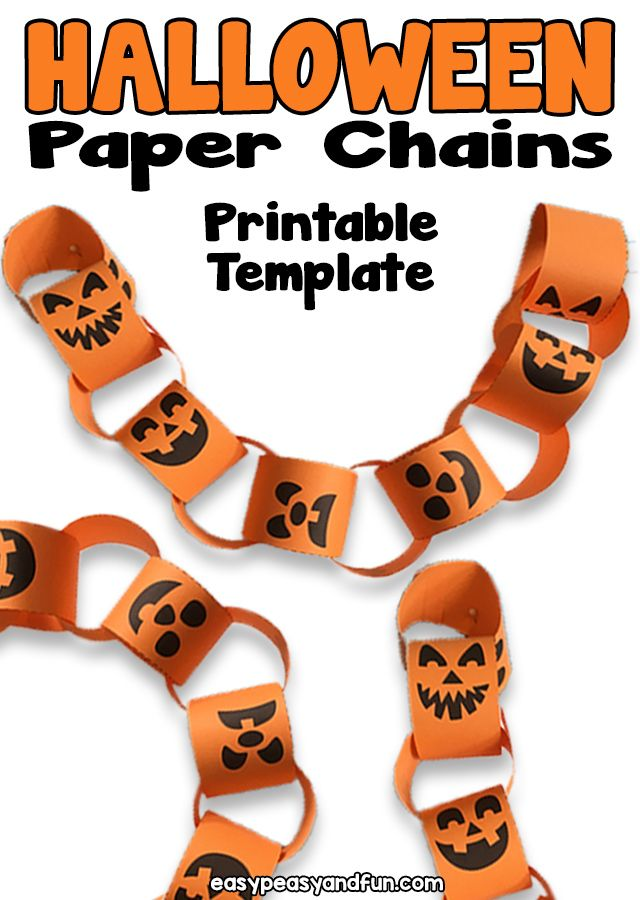 photograph about Printable Halloween Paper identify Printable Halloween Paper Chain Very simple Peasy and Exciting within just 2019