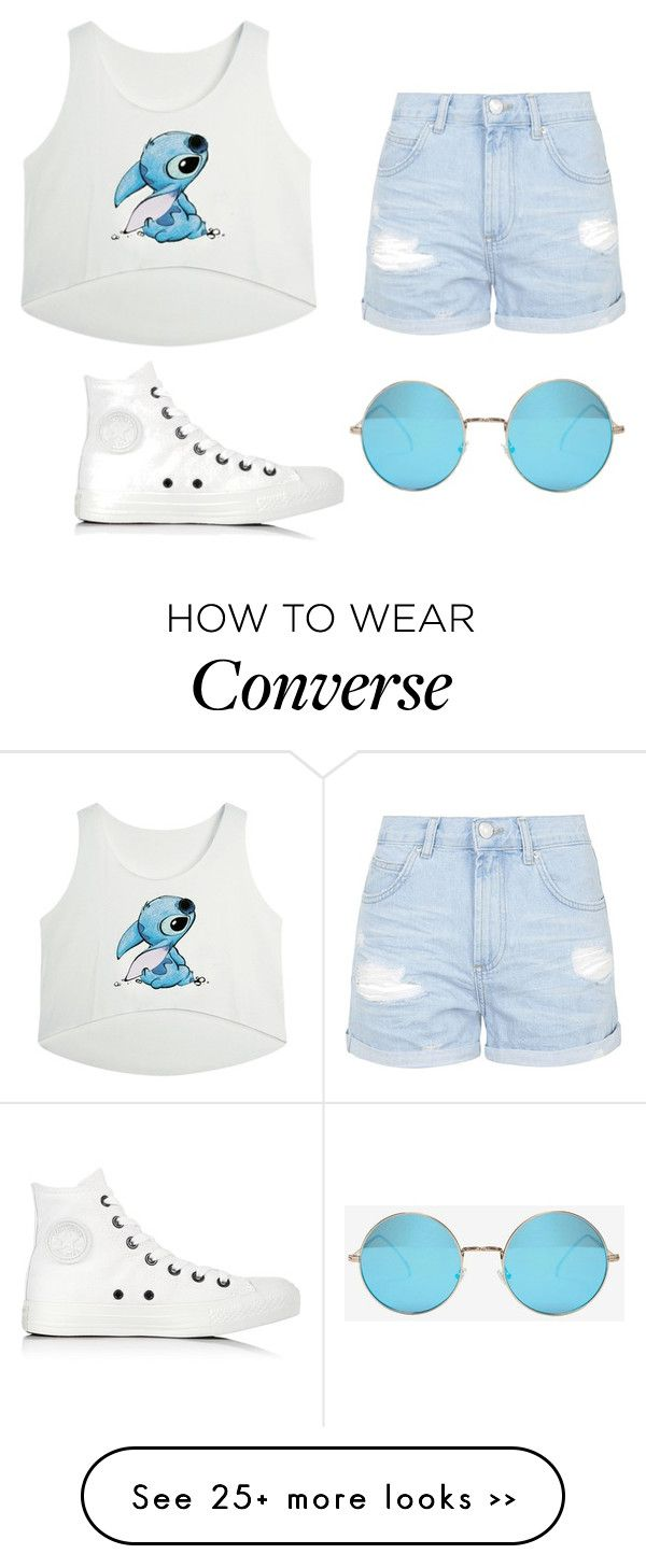 """Untitled #107"" by mikarot on Polyvore featuring Converse, Topshop and Illesteva"
