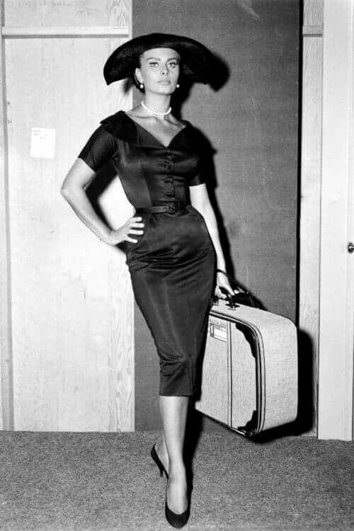 """Sophia Loren in """"Houseboat"""" Gown by Edith Head. 1958"""