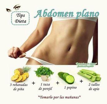 Quema la grasa de tu abdomen con este #JugoVerde. #AbdomenPlano #JugoQuemaGrasa #Receta