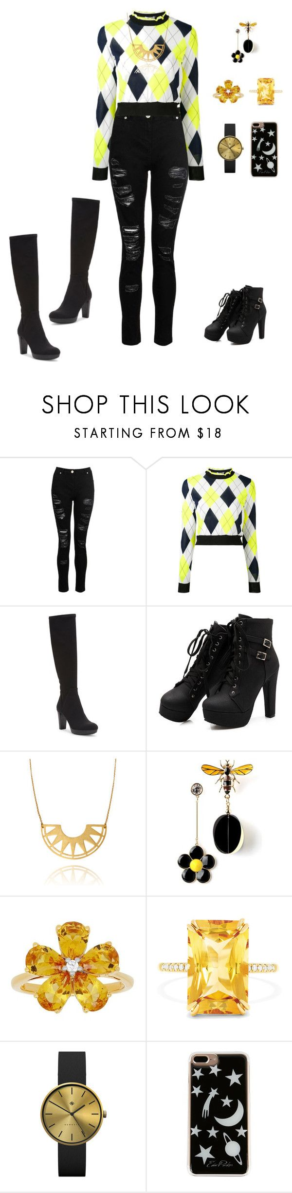 """""""Sem título #40"""" by ren-emily ❤ liked on Polyvore featuring Dorothy Perkins, MSGM, Donald J Pliner, David Tutera, Effy Jewelry, Newgate and Edie Parker"""