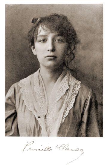 Camille Claudel nel 1884, foto con firma...