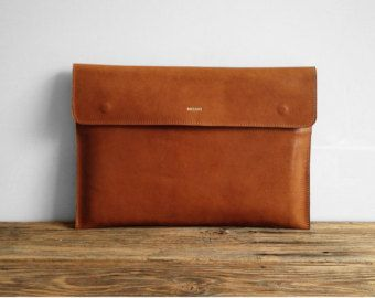 Leather 13 Macbook Sleeve MacBook 13 Pro Office Bag by MISOUI