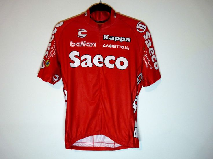 Saeco Kappa Cannondale red cycling jersey maillot cycliste - Medium