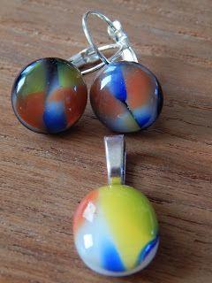 setje uit de hotpot. glas met een COE96. Glass fusing. Fused glas. hotpot. www.tattewatteke.blogspot.be