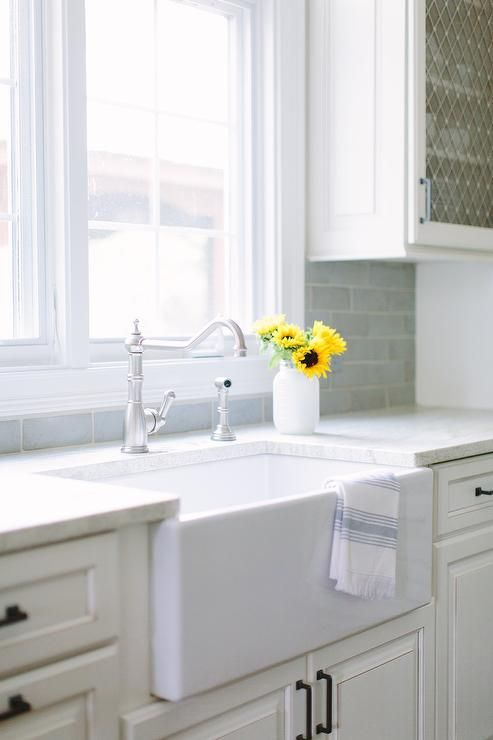 Small farmhouse Kitchen Sink and Vintage Faucet, Transitional, Kitchen