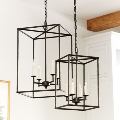 Another pricey one. Would love the large size for our foyer. Dramatic! I will probably buy this myself AFTER Christmas when it (maybe/hopefully) goes on sale. |  Hadley 4-Light Pendant Chandelier