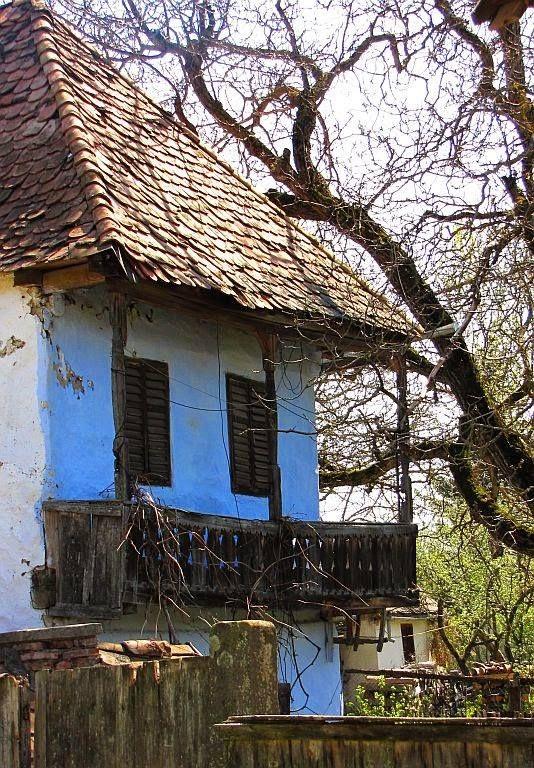 Régi tornácos házak Székelyföldön - Erdély. Fotó: Szecső Attila