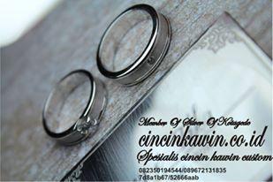 cincin pernikahan palladium 95 dan emas putih