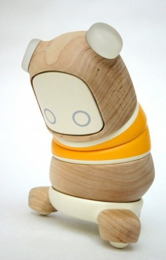 The saddest little wooden robot on the planet. I love him.