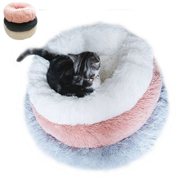 Dog Cat Bed Pet House Breathable Lounger Sofa Small Medium Dogs Plush Mats Puppy…